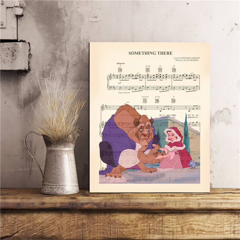 Beauty And The Beast Something There HD Wall Art Canvas Posters Prints Painting Wall Pictures For Bedroom Home Decor Accessories in Painting Calligraphy from Home Garden