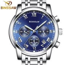 Binssaw New Luxury Men Watches Stainless Steel Waterproof Luminous Watch Man Sport Business Wrist Men'S Quartz Watch Analog 2017