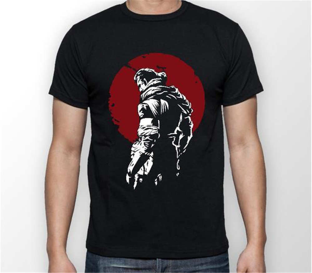 Anime Print Tee Metal Gear Solid Big Boss Red Moon MGS Gamer Unisex Tshirt T-Shirt Tee ALL SIZES Black T-Shirt T shirt Mens Shi