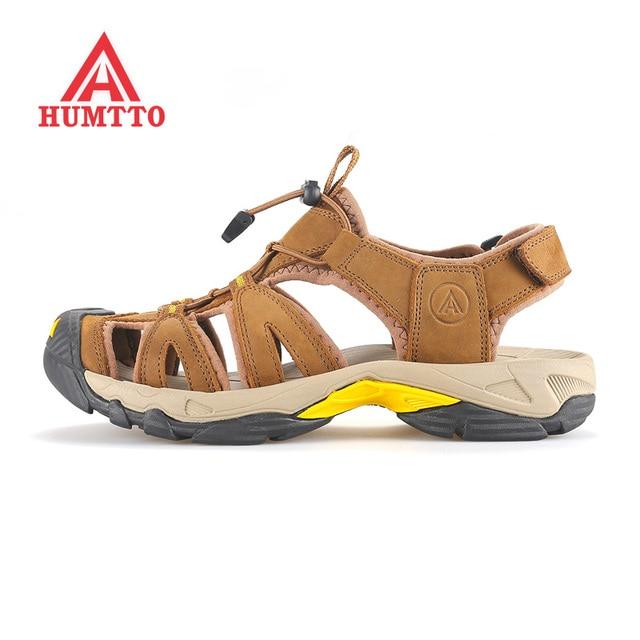 new arrivals a5c1a 40c1e US $45.37 35% di SCONTO|HUMTTO uomo Estate Sport All'aria Aperta Escursioni  Trekking Sandali Scarpe Per Gli Uomini di Sport Arrampicata Montagna ...
