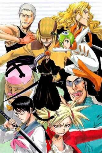 โปสเตอร์ Anime Bleach Kurosaki ichigo ญี่ปุ่น Wall Scroll พิมพ์ภาพวาดตกแต่งบ้านการ์ตูนญี่ปุ่นโปสเตอร์ตกแต่ง