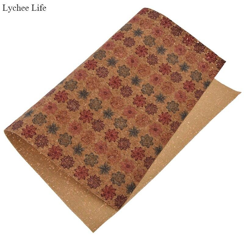 Vintage Soft Printed Felt Fabric A4  Bow Maker Glitter Colour Felt Patchwork