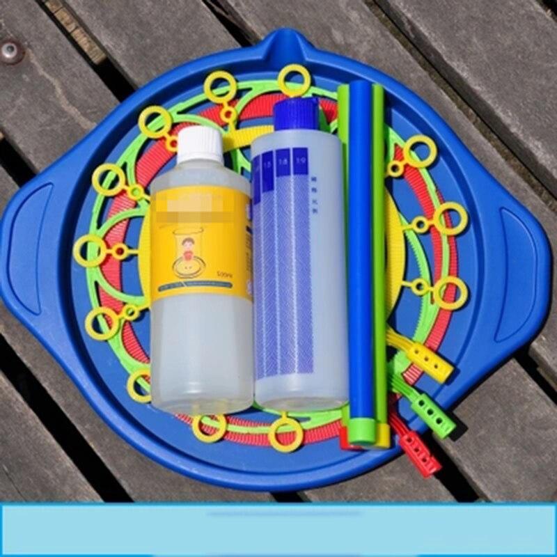 2019 nouvelle mode grand cercle à bulles bleu profond anneau à bulles baguette coup bulle cercle grand Bar jouet sûr non toxique bulle spectacle accessoires