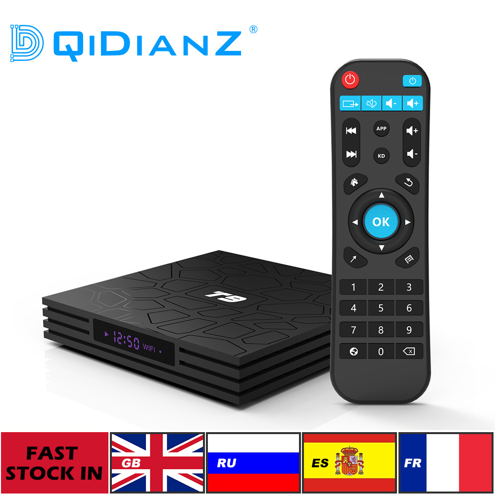 DQiDianZ T9 Android 9 0 Set Top Box large memory 4GB 32GB Multimedia player WIFI 2