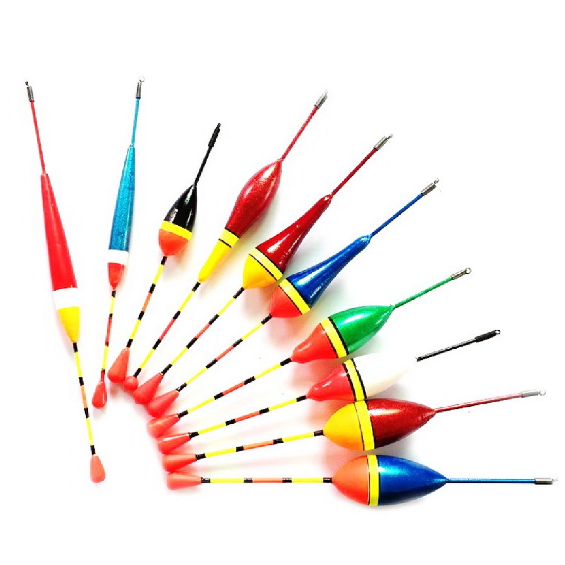 10pcs fishing floats set buoy bobber fishing light stick for Fish stick brands