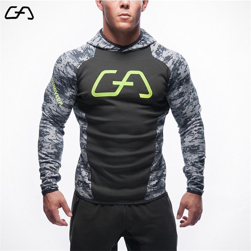 2017 New Fitness Men Hoodies Brand Clothing Men Hoody Zipper Casual Sweatshirt Muscle Men s Slim