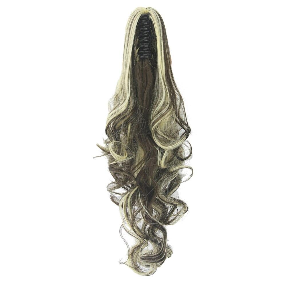 Synthetische Haarverlängerung Soowee 24 Inch Lockige Synthetische Haar Pferdeschwanz Klaue Pferdeschwanz Clip In Haarverlängerungen Haarteil Falsche Haar Auf Clips Für Frauen Den Speichel Auffrischen Und Bereichern Haarverlängerung Und Perücken