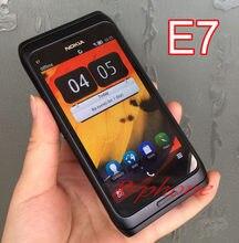 Nokia e7 original desbloqueado gsm 3g telefone móvel wifi gps 8mp qwerty inglês árabe russo teclado remodelado
