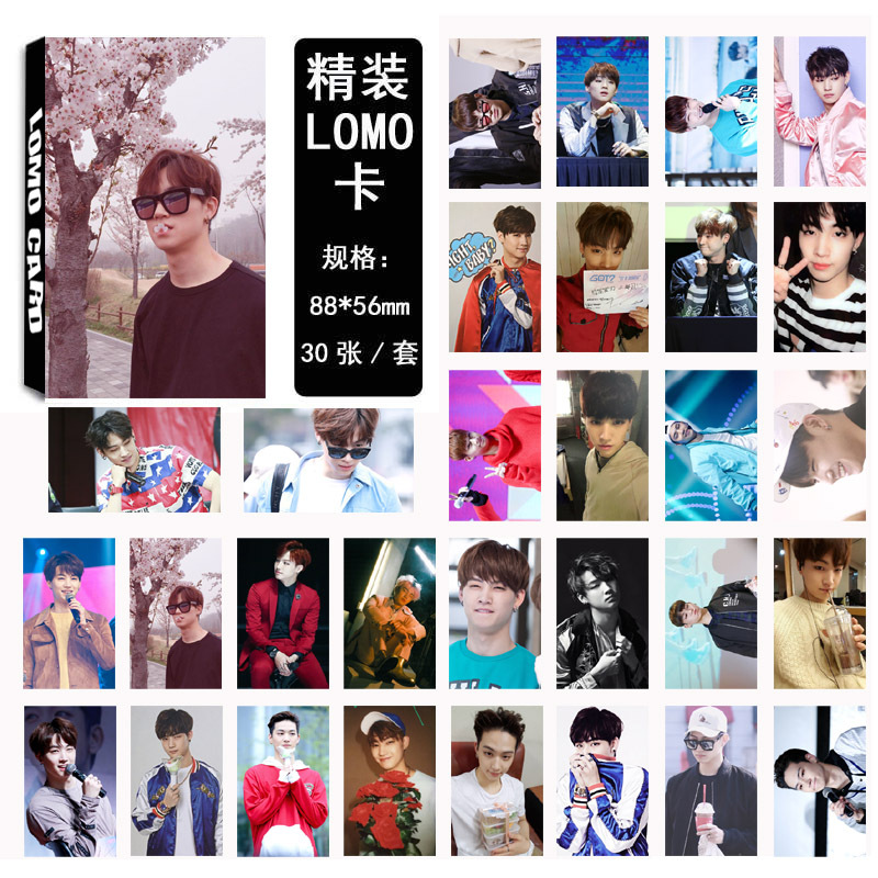 Got7 Latest Fly Album 30 Pieces Of Each Homemade Lomo Box Cards Jewelry & Accessories Beads & Jewelry Making