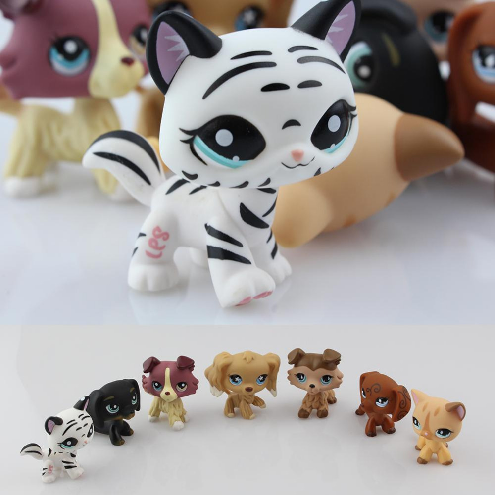 New LPS Lovely Toys Animal Cartoon Cat Dog Action Figures Collection Kids toys Gifts lps lps toy bag 20pcs pet shop animals cats kids children action figures pvc lps toy birthday gift 4 5cm