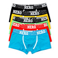 Pink Heroes 5pcs\\lot Men Underwear Boxers Cotton Sexy Boxer Mens Underwear Low Price Brand Clothing Men Boxer Pants Shorts