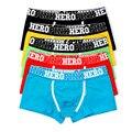 Rosa Héroes \ \ porción Hombres Boxeadores de la Ropa Interior del Algodón Sexy Boxer Para Hombre Bajo Precio Ropa de la Marca Boxeador de Los Hombres pantalones Cortos