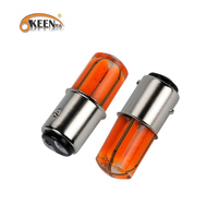 OKEEN Led 1157 Car Flash Braking Light Interior Light Cob Marker Lamp 12Vbulb Wedge Parking Dome