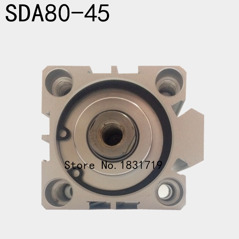 SDA80-45 thin cylinder Series 80mm Bore 45mm Stroke SDA80*45 Aluminium alloy cylinder SDA80x45SDA80-45 thin cylinder Series 80mm Bore 45mm Stroke SDA80*45 Aluminium alloy cylinder SDA80x45