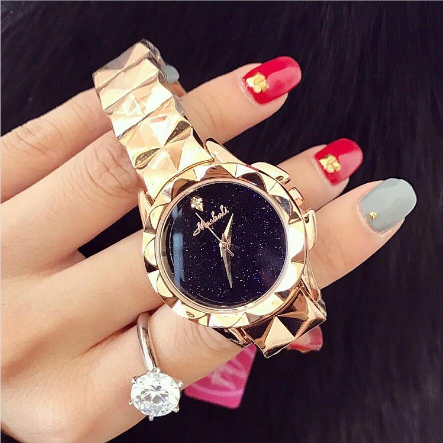 Отлично qulaity Для женщин часы! Роскошные Модные прозрачные наручные часы женские звездное небо платье часы женские красочные Наручные часы