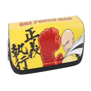 Anime One Punch Man Boy Girls Unisex School zipper Case Pocket Bag Canvas Pencil Box Gift
