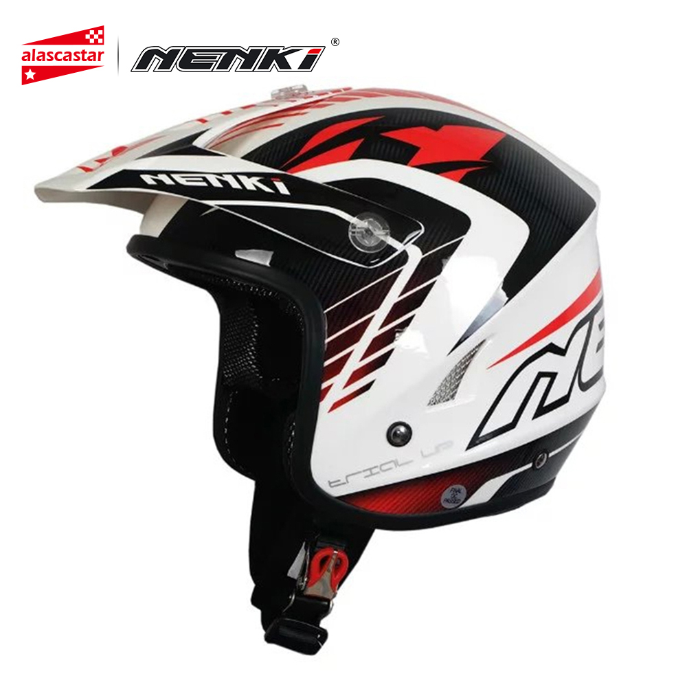 NENKI Motorcycle Open Face Helmet Off-Road Helmet Climb Motorcycle Cross-Country ATV Dirt Bike MX BMX DH MTB Racing Helmet 606