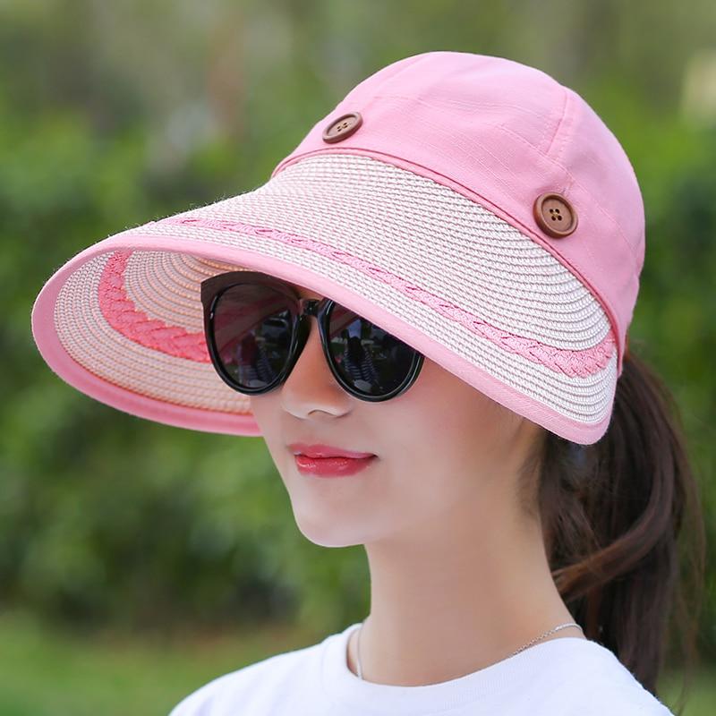 COKK Sombreros Mujeres Gran Ala Ancha Grande Playa de Verano Sombrero - Accesorios para la ropa - foto 3