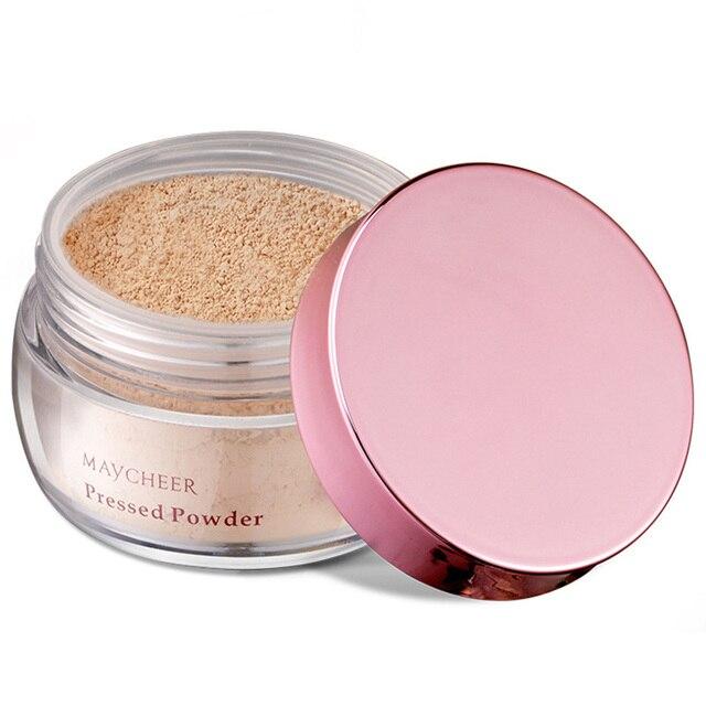 2019 polvo suelto acabado de maquillaje en polvo suave control de aceite ilumina la piel para mujer