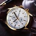 Fashion Business Luxury Brand Quartz Watch Mens Sport Watches Small Hands Work Chronograph Dress Wristwatch Relogio Masculino