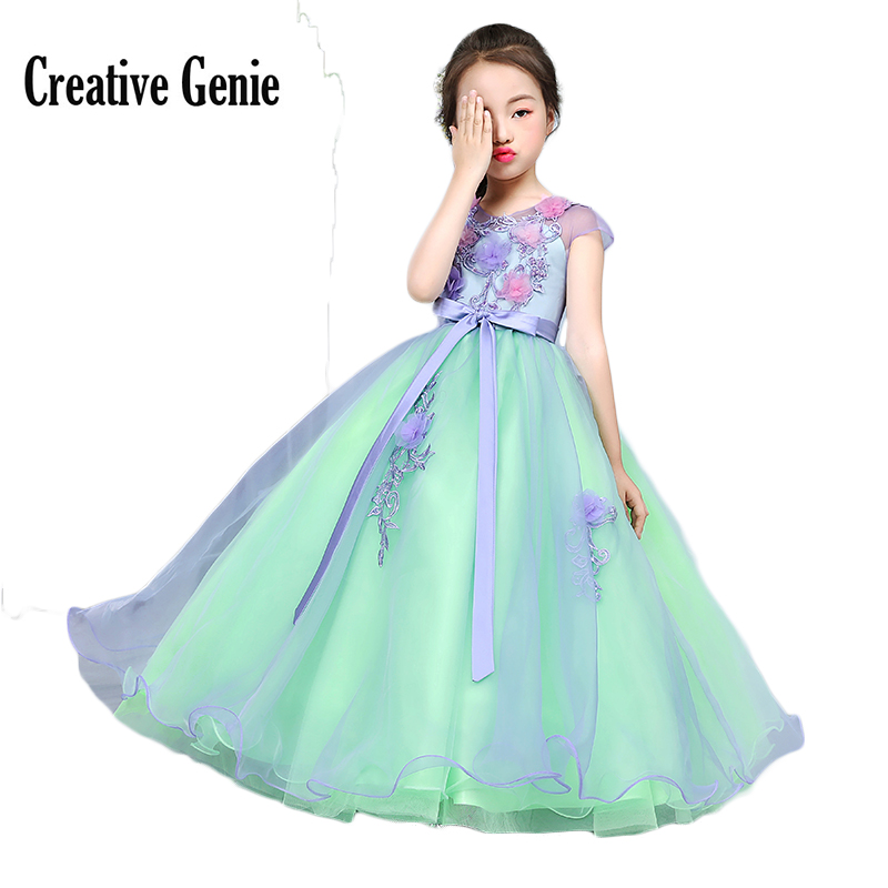 Light Green Flower Girl Dresses For Party And Wedding Ball Gown ...