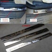 Autocollants de décoration à pédale, bande de seuil de porte en acier inoxydable, garniture à pédale, accessoires pour LAND ROVER DISCOVERY 3 4 LR3 LR4
