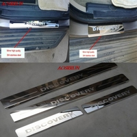 Stainless Steel Door Sill Strip Welcome Pedal Trim Auto Car Styling Stickers Accessories For LAND ROVER DISCOVERY 3 4 LR3 LR4