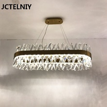 Modern creative chandelier crystal living room lamp American model designer hotel oval dining