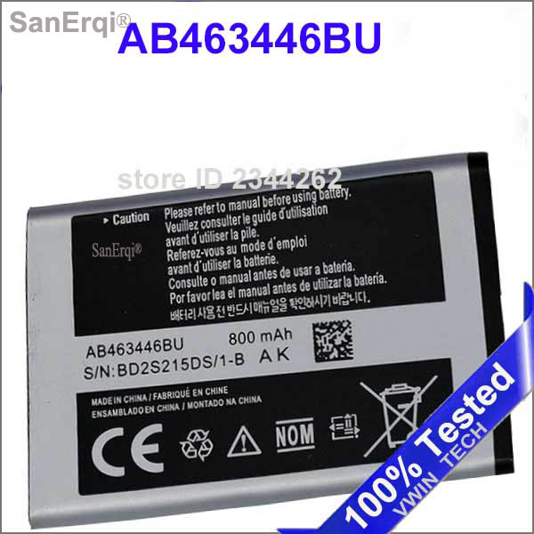 AB463446BU <font><b>Battery</b></font> For <font><b>Samsung</b></font> GT-E2530 GT-C3520 E1228 E339 C3300K X208 B309 B189 GT-E2330 <font><b>C5212</b></font> AB043446BE New image