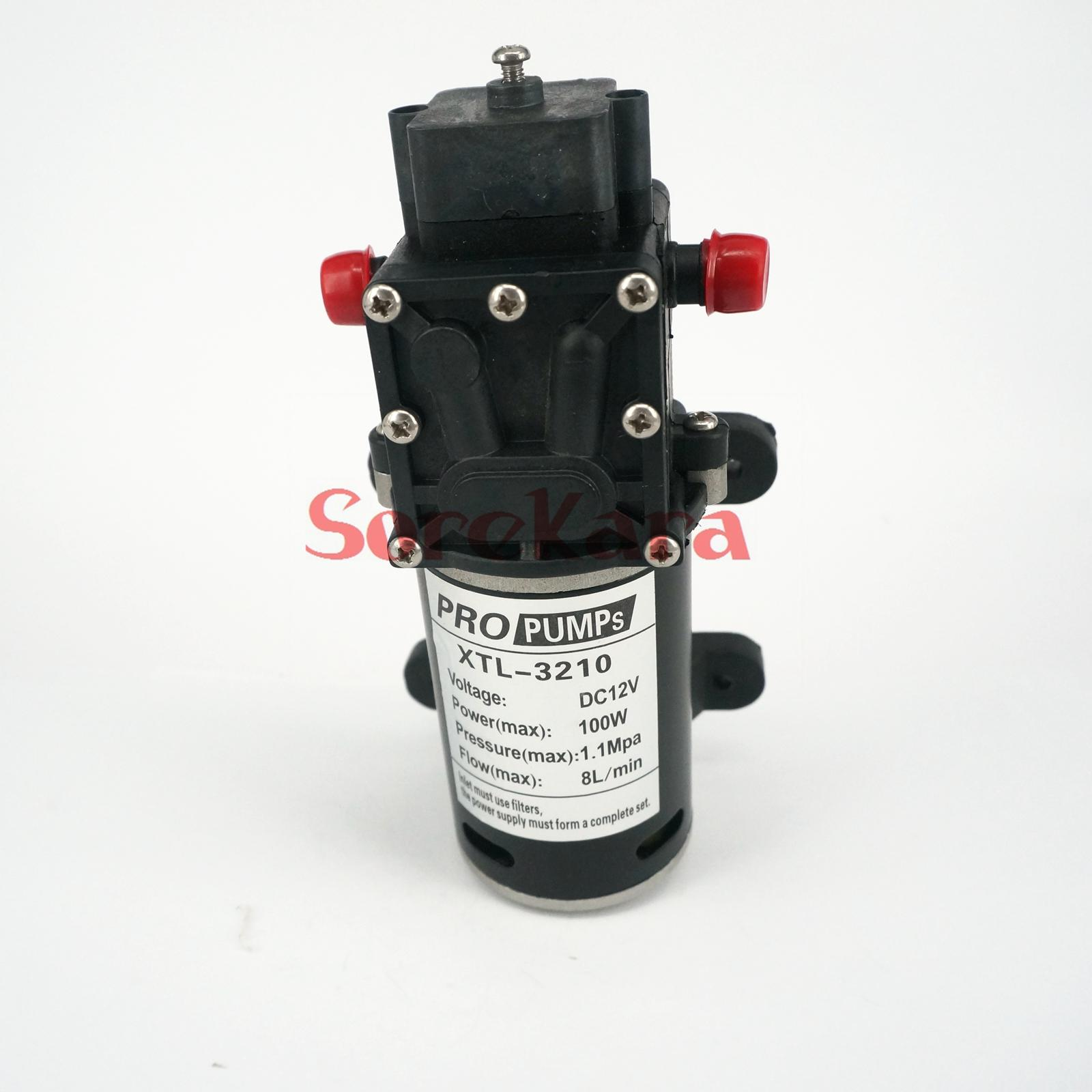 ФОТО T-HA DC 12V 100W Self-priming Booster Diaphragm Water Pump Backflow Control 300L/H For Car washing