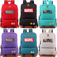 Multicolor Marvel Letter The Avenger Boy Girl School bag Women Bagpack Teenagers Schoolbags Canvas Men Student Backpack Packsack