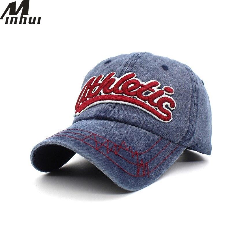 Minhui athletic Baseball Caps Casquette Cotton Snapback Hat Embroidery Letters Hats Bone Cap for Men Women