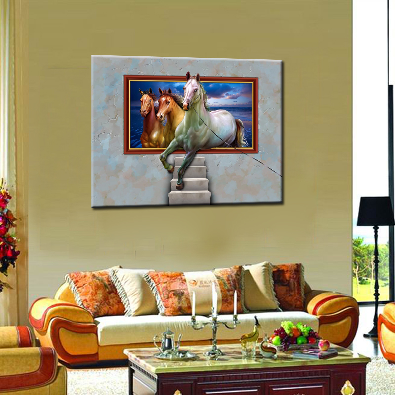 single unframed realist animals printed paintings on canvas for living romm hotel decoration wall art in painting calligraphy from home garden on