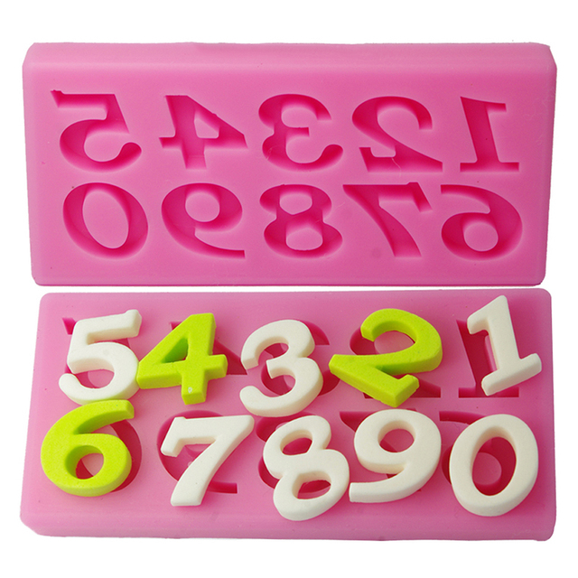 10 Numbers Pattern Birthday Cake Fondant Decorating Tools Molde De Silicone Kitchen Cake Number Decorating Baking Tool Gf054 In Cake Molds From Home