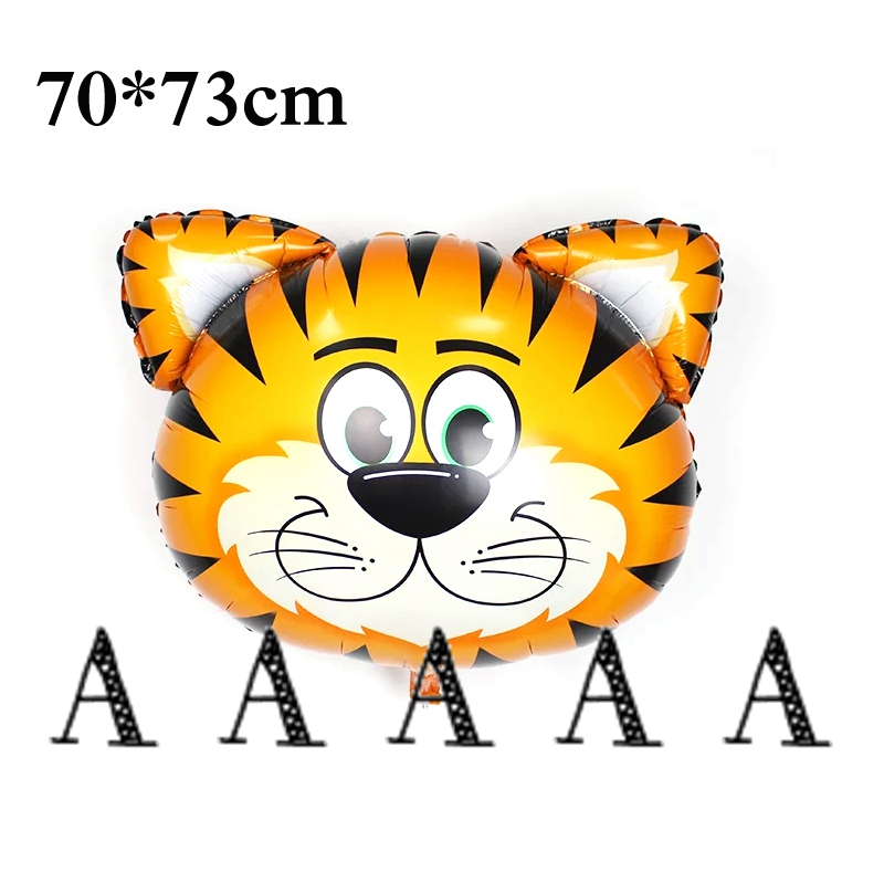 2pcs Lion monkey zebra deer cow tiger Head Foil Balloons inflatable happy birthd