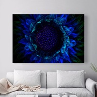 Abstract Blue Flower Canvas Art Print Painting Poster Wall Pictures For Living Room Decor Home Decoration No Frame