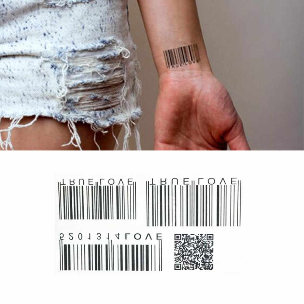 TOMTOSH 1pcs tattoo wrist two-dimensional pattern pattern water transfer men's lady stickers