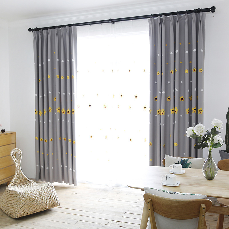Cute Star Curtains For Living Room Bedroom Kitchen Tulle