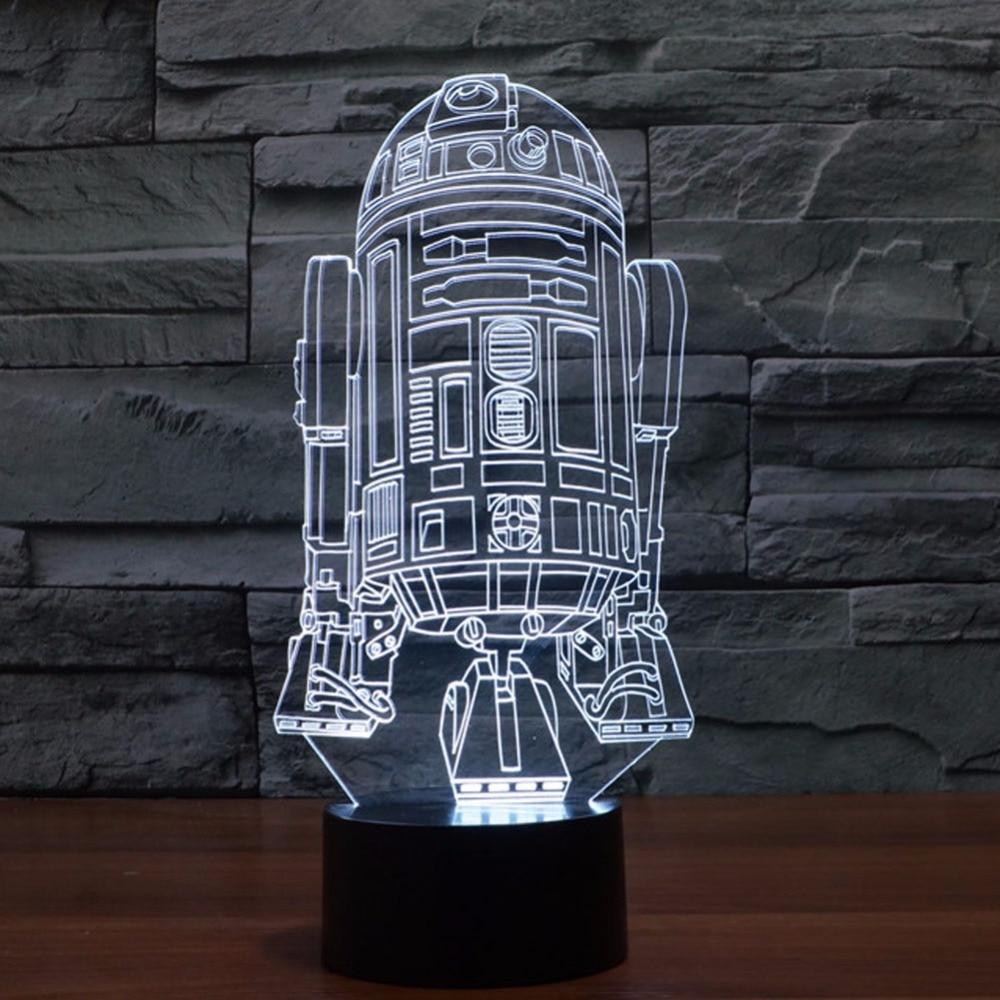Night Lights 3D Lamp Star Wars Table Lamp Children's nightlight Usb led Visual Led Night Lights Illusion Mood Lamp Lamparas 3D 3d led visual colorful usb table lamp