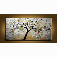 100 Hand Painted Modern Wall Decor Art Abstract Oil Painting On Canvas No Framed Tree Wall