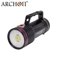 Archon D100WII CREE L2 10000 Lumens LED Diving Flashlight Scuba Torch Underwater Video Light 18650 Battery and Charge Included