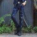 Мода Камуфляж Брюки-Карго Женщины Причинные Военные Брюки для Женщины 98% Хлопок Случайных Брюки Женские Тонкие Комбинезоны