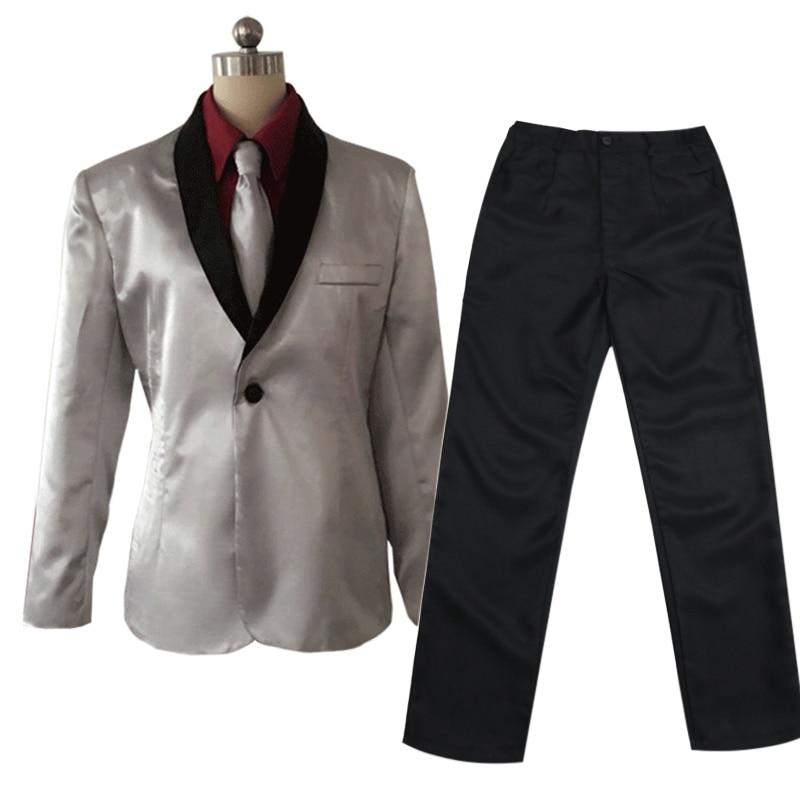 Diplomatic Batman Joker Cosplay Costume Men Suit Full Set Mr.j Halloween Party Show Costume Asian Size Jacket Shirt Pants Tie Sets