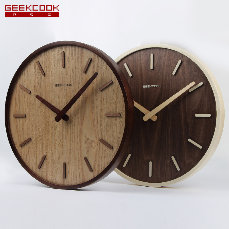 Creative Large Bamboo Wood Wall Clock Simple Modern Design Watch Wonderful Wooden  Clocks Ideas Home. Nonsensical ...