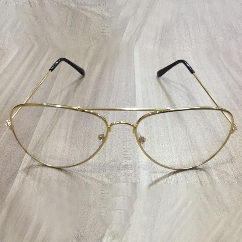893cd235915 Unisex Big Round Gold Metal Frame Glasses Oversize Clear Lens Vintage Retro  Chic Eye Glasses-in Eyewear Frames from Men s Clothing   Accessories on ...