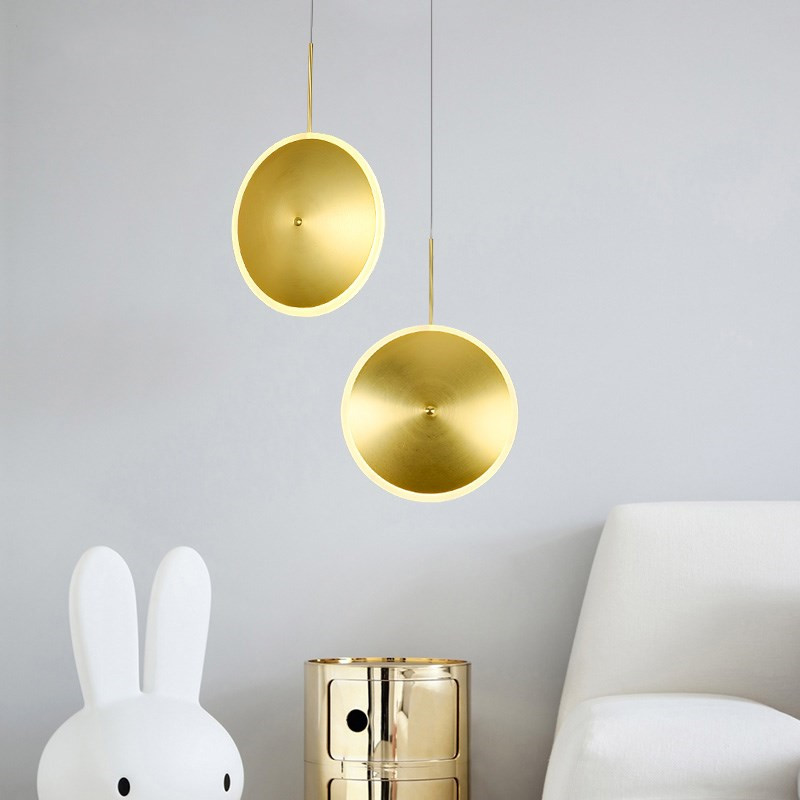 Nordic simple golden UFO Pendant Light creative clothing store coffee shop living room restaurant decoration lamp free shipping free shipping watercolor art living room lobby mural fashion salon shop clothing store restaurant lounge bar wallpaper