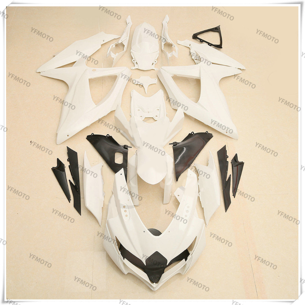 Motorcycle Unpainted Fairing Body Work  Cowling For SUZUKI GSXR600-750 GSXR 600 750 K8 2008 2009 2010 +4 Gift