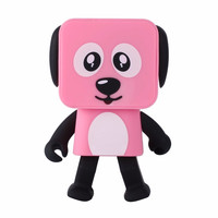 New multi function small square puppy smart bluetooth speaker robot small square dog dancing child toy sound