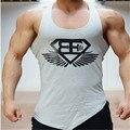 New Arrival  Shark Stringer Tank Top Men Gymshark Bodybuilding Fitness Men's Singlets  Tank Shirts  Clothes Cotton