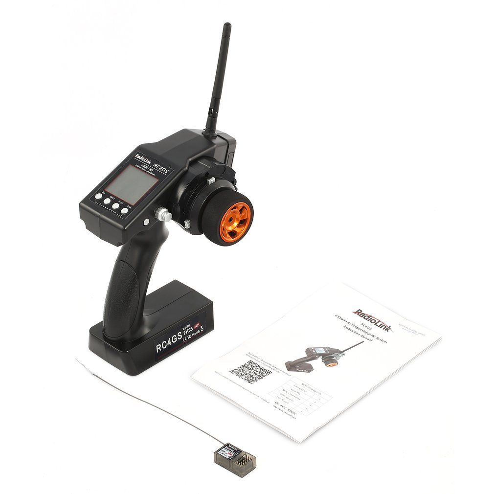 RadioLink RC4GS 2.4G 4CH 400M Distance Remote Controller Transmitter + R6Fg Gyro Inside Receiver For RC Car Boat
